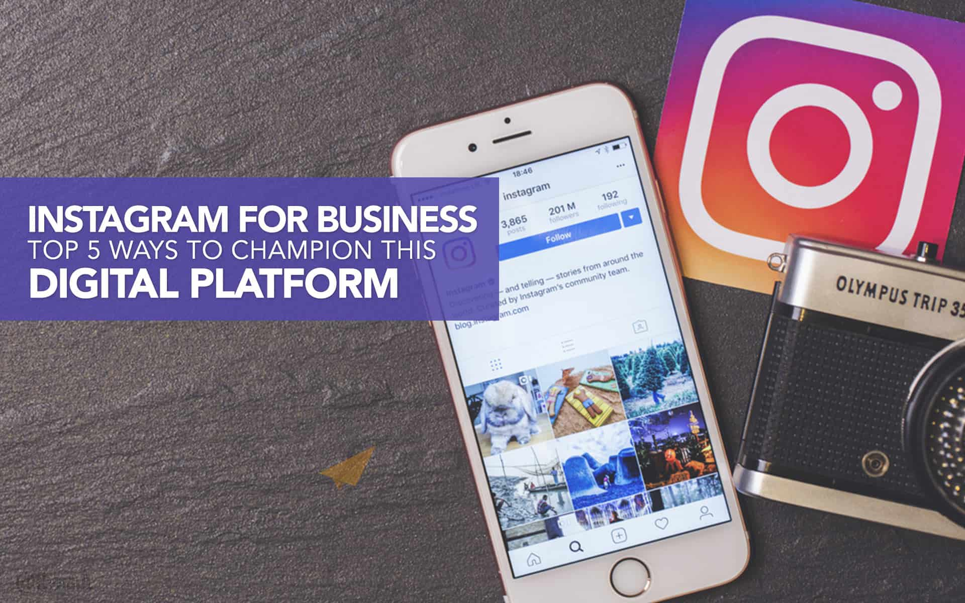 Instagram for Business: Top 5 Ways to champion this digital platform
